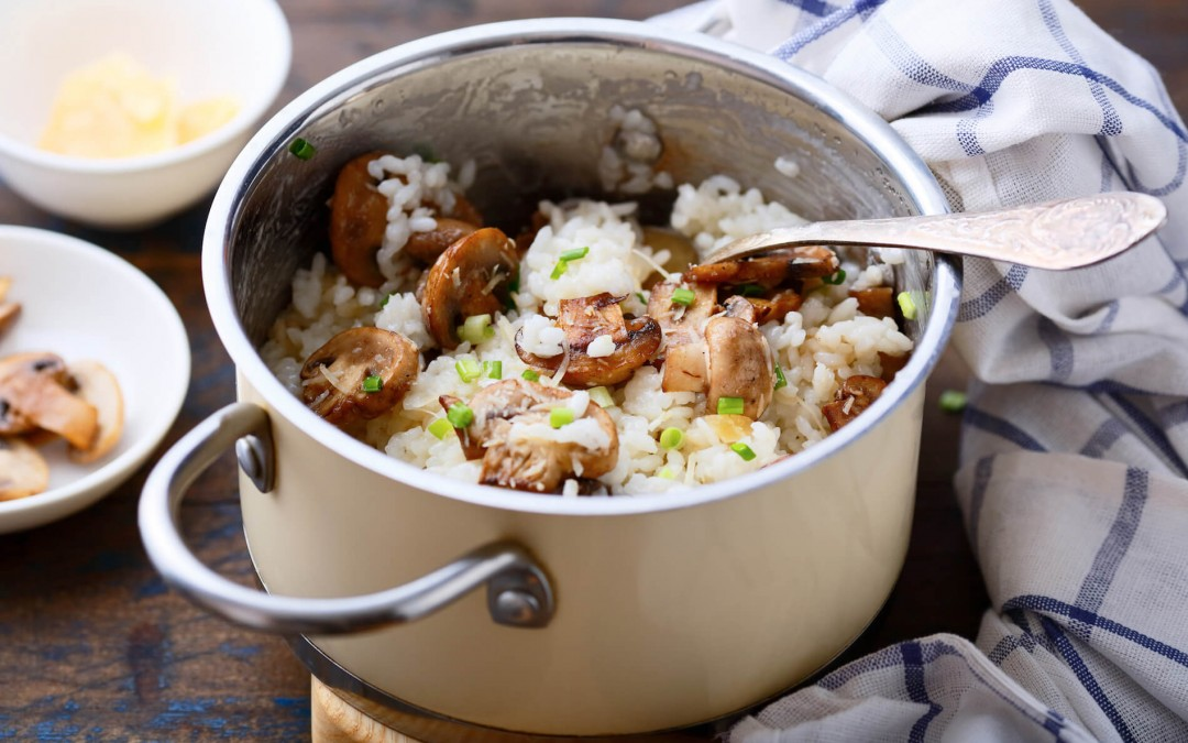 Mushroom Risotto with Green Onions