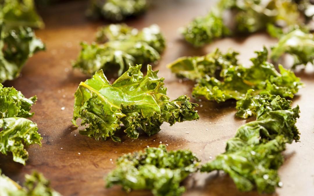 Crispy Kale Chips with Salt & Pepper